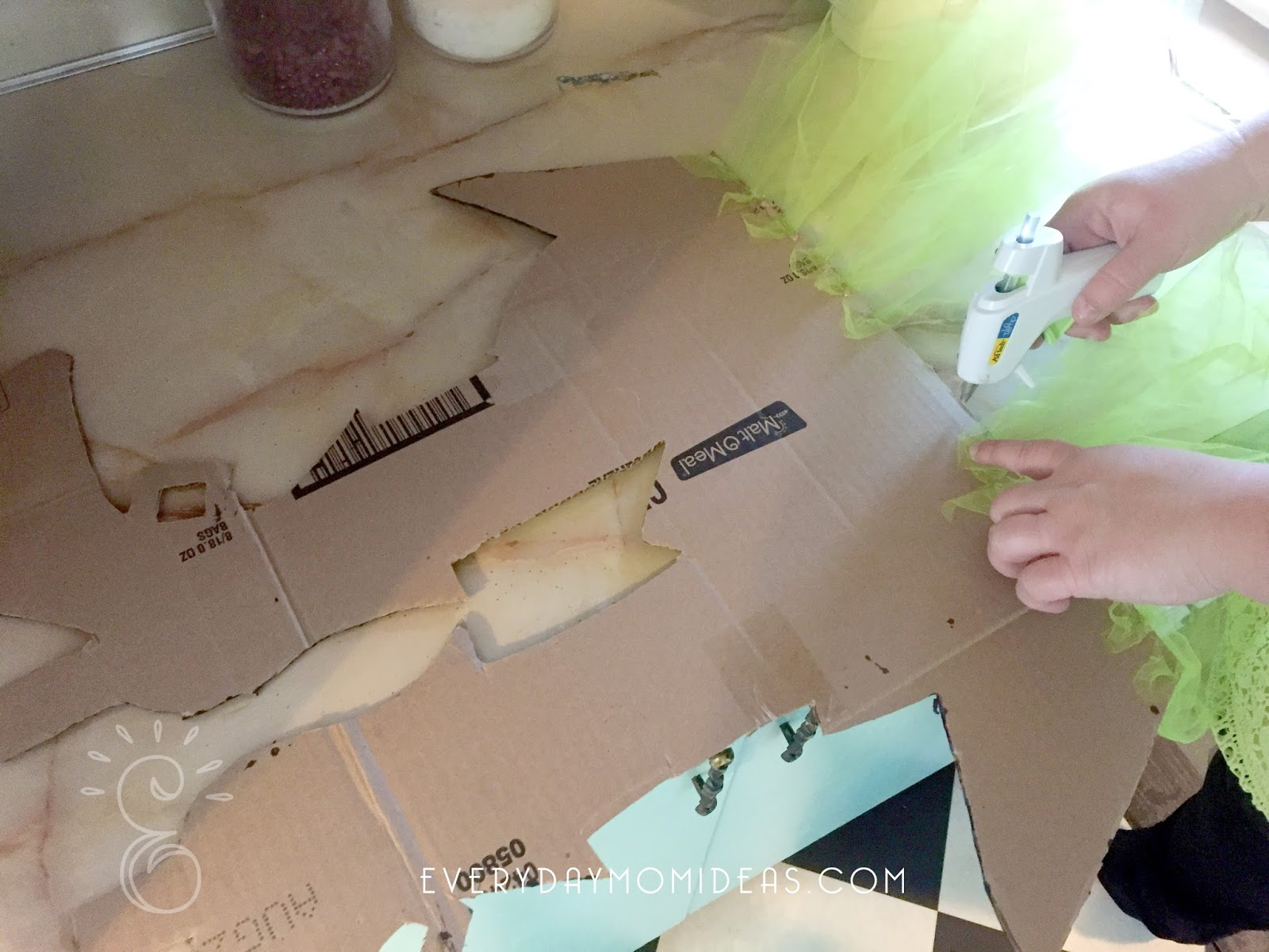 Easy Cardboard Witch Legs For The Fireplace - Everyday Mom Ideas