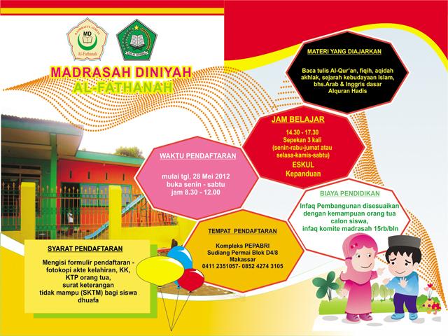 Brosur Madrasah Diniyah Blog Desain Bangjay