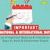 List of Important National and International Days in PDF
