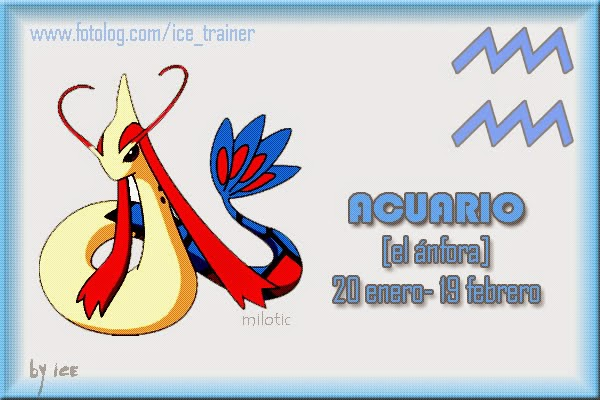 Horoscopo Pokemon Signo Acuario