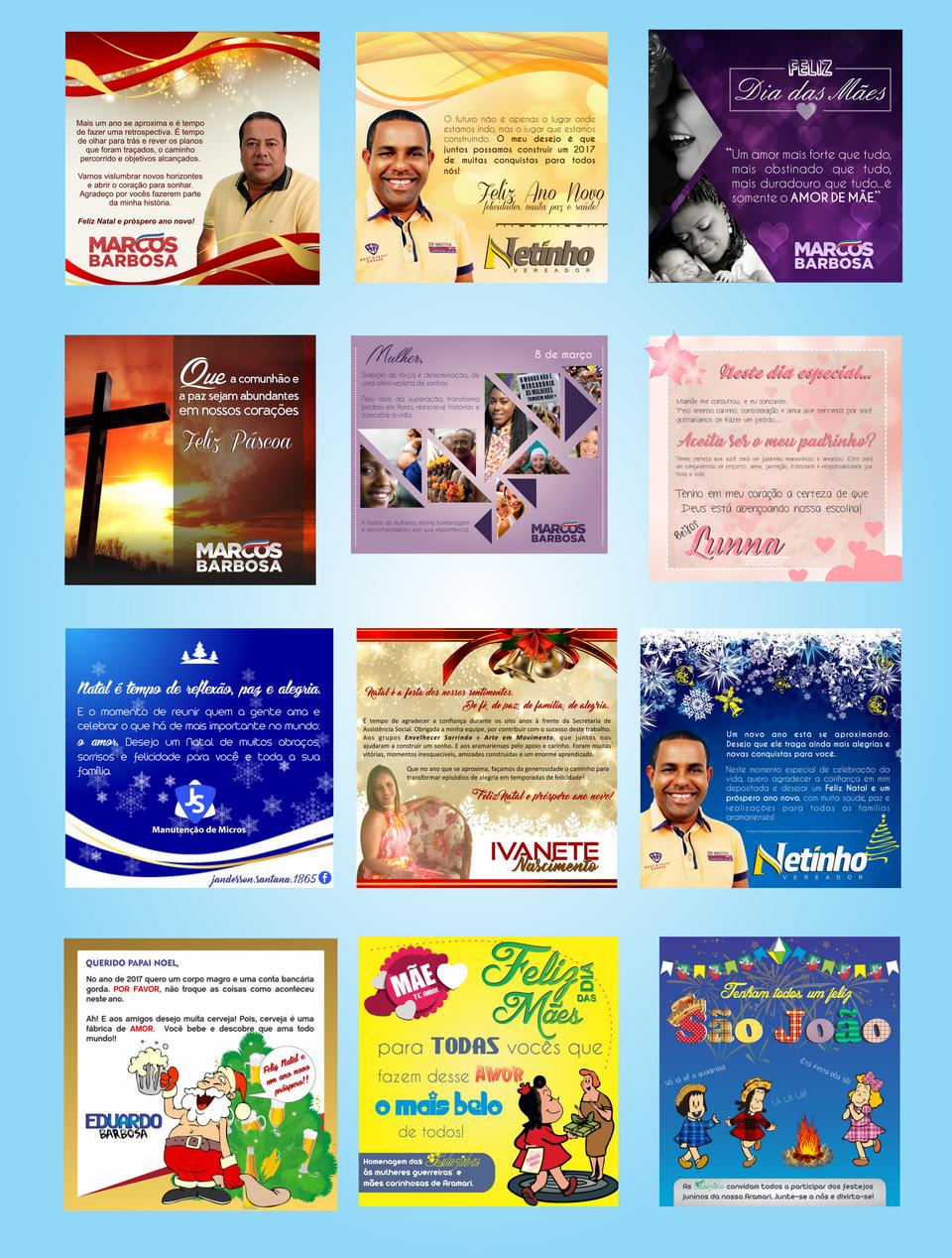 Convites, mensagens comemorativas
