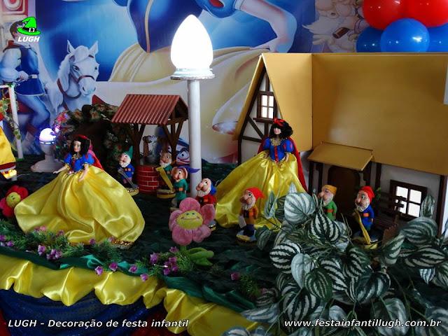Festa Branca de Neve, decoração infantil
