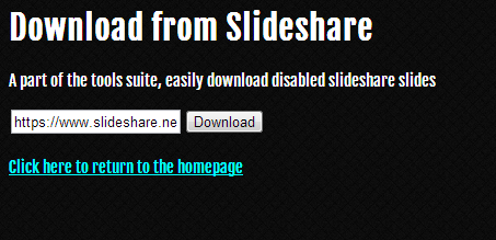 enter valid slideshare url into the textbox such as httpwwwslideshare netsimplyzestyios 7 concept welcome to the future of the iphone