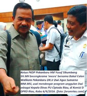 Ketua PKDP dan Anggota DPRD Riau Yusuf Dukung Dwik