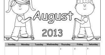 Lessons by Molly: Free Teaching Resource-August Calendar