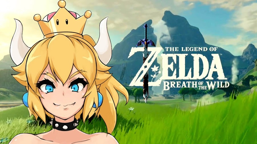 bowsette legend of zelda breath of the wild mod