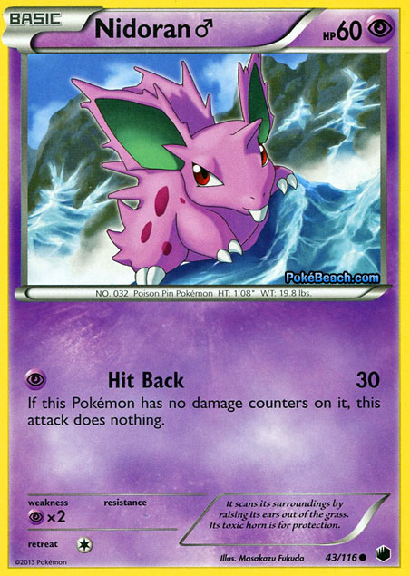 Nidoran #43/116 -- Plasma Freeze Pokemon Card Review