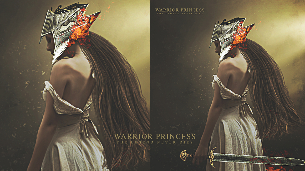 Create Warrior Princes Digital Art In Photoshop