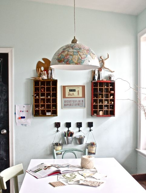 Fabulous Dishfunctional Designs: Global Recycling: Old Globes Upcycled NC55