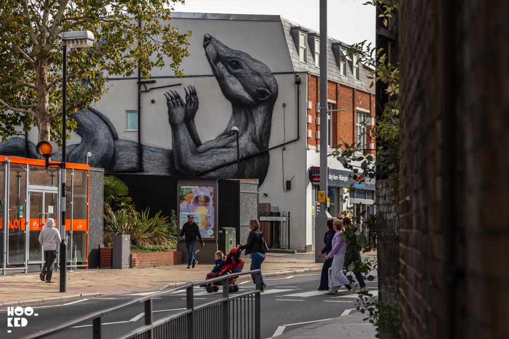 Walthamstow Street Art Mural By Belgian Street Artist ROA