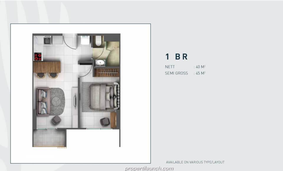 Tipe 1 Bedroom