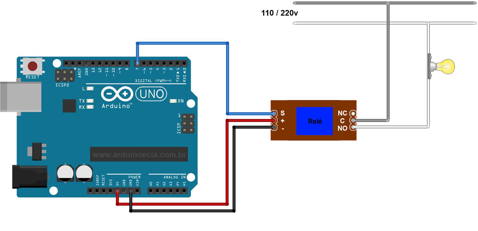Ligando Uma L 226 Mpada Com M 243 Dulo Rel 233 Arduino E Cia