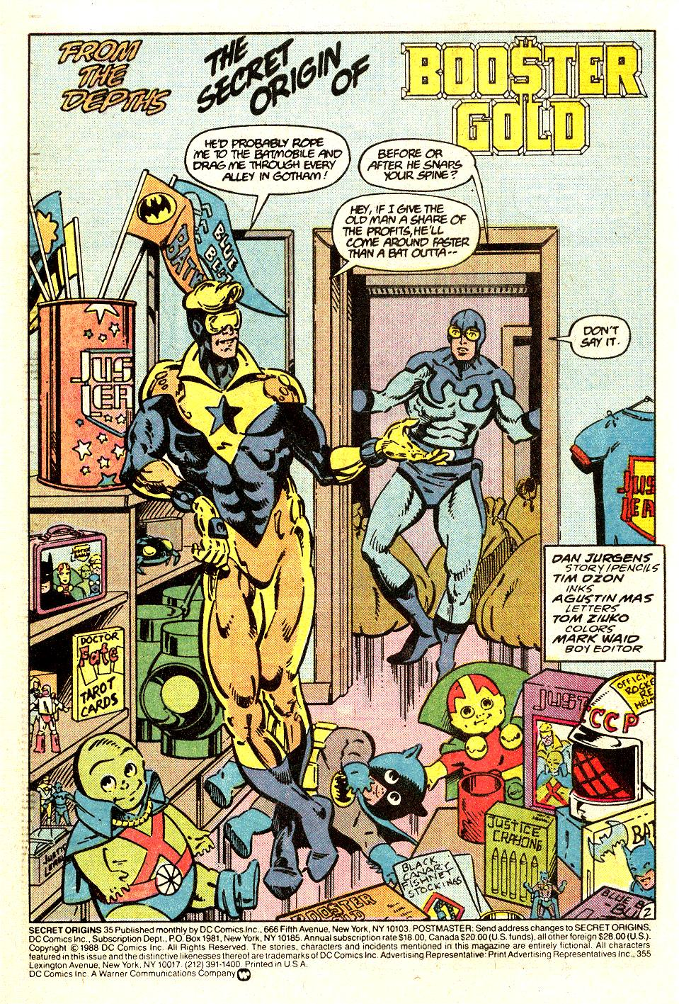 Read online Secret Origins (1986) comic -  Issue #35 - 3