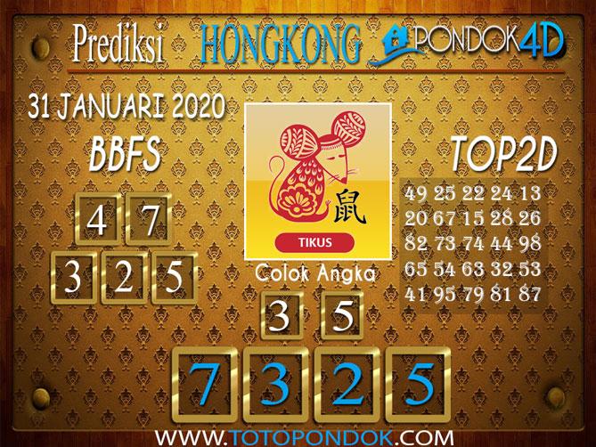 Prediksi Togel HONGKONG PONDOK4D 31 JANUARI 2020