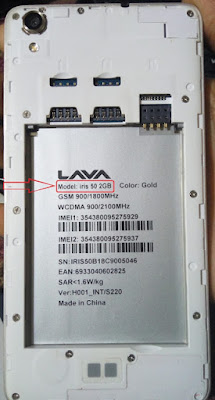 Lava Iris 50 2GB Ram Flash File MTK6580 Official Firmware Dade Recovery Fixd Rom
