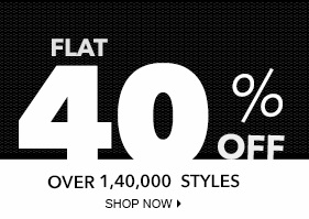 Flat 40% Off  Upto 90% Off on Men's / Women's Clothing, Footwear & Accessories @ Jabong