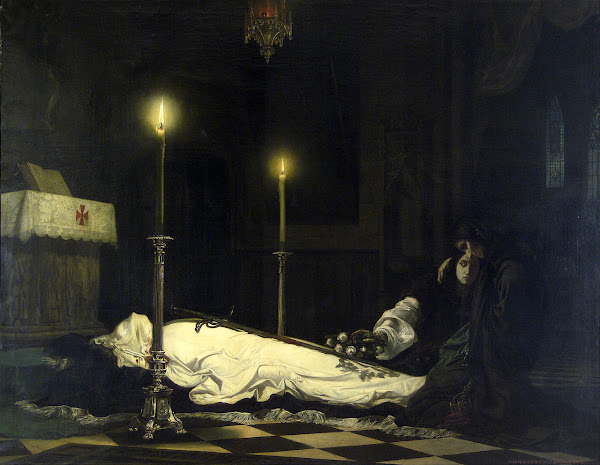 Mourning of László Hunyadi by Viktor Madarász, Macabre Art, Macabre Paintings, Horror Paintings, Freak Art, Freak Paintings, Horror Picture, Terror Pictures