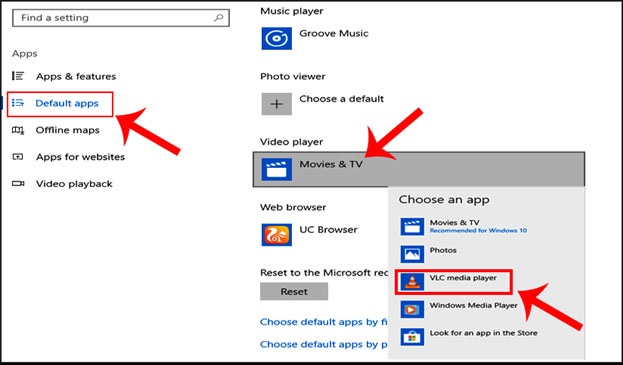 windows default video player change kaise kare