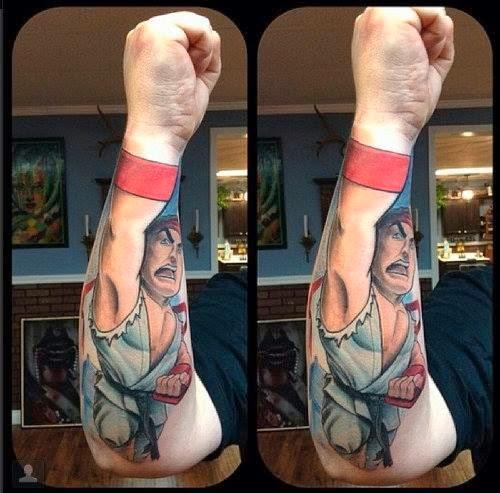 Tatuaje Ryu Street Fighter