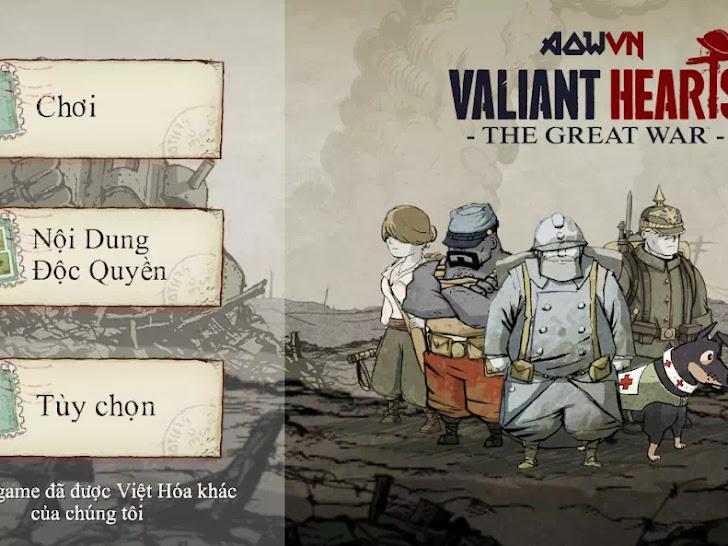 Valiant Hearts : The Great War Việt Hoá | Game Android PC - Trái Tim Quả Cảm Tuyệt Hay
