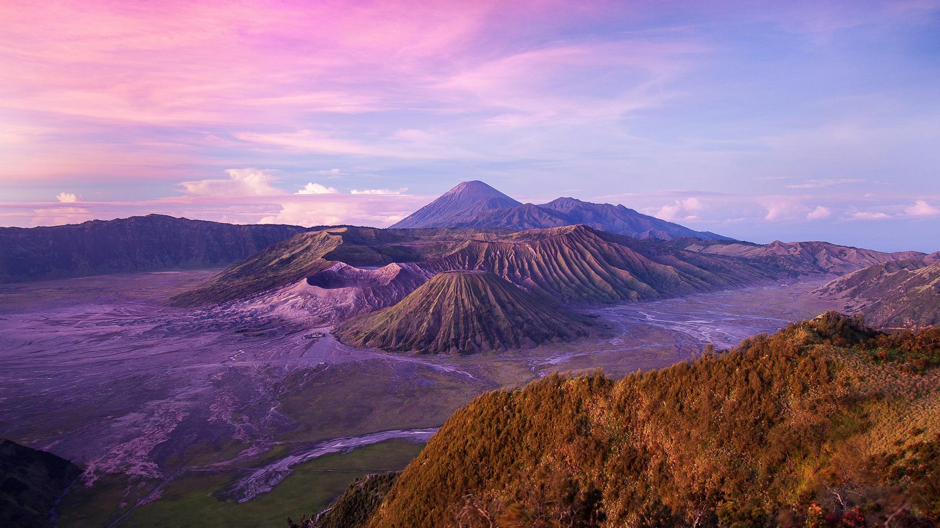 Indonesia dusk landscape full hd desktop wallpapers 1080p - Desktop wallpaper hd free download 1366x768 ...