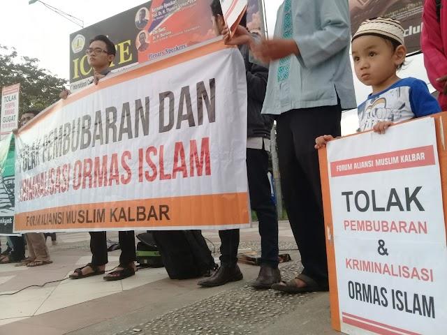 Forum Aliansi Muslim Kalbar Gelar Aksi Tolak Perppu Ormas