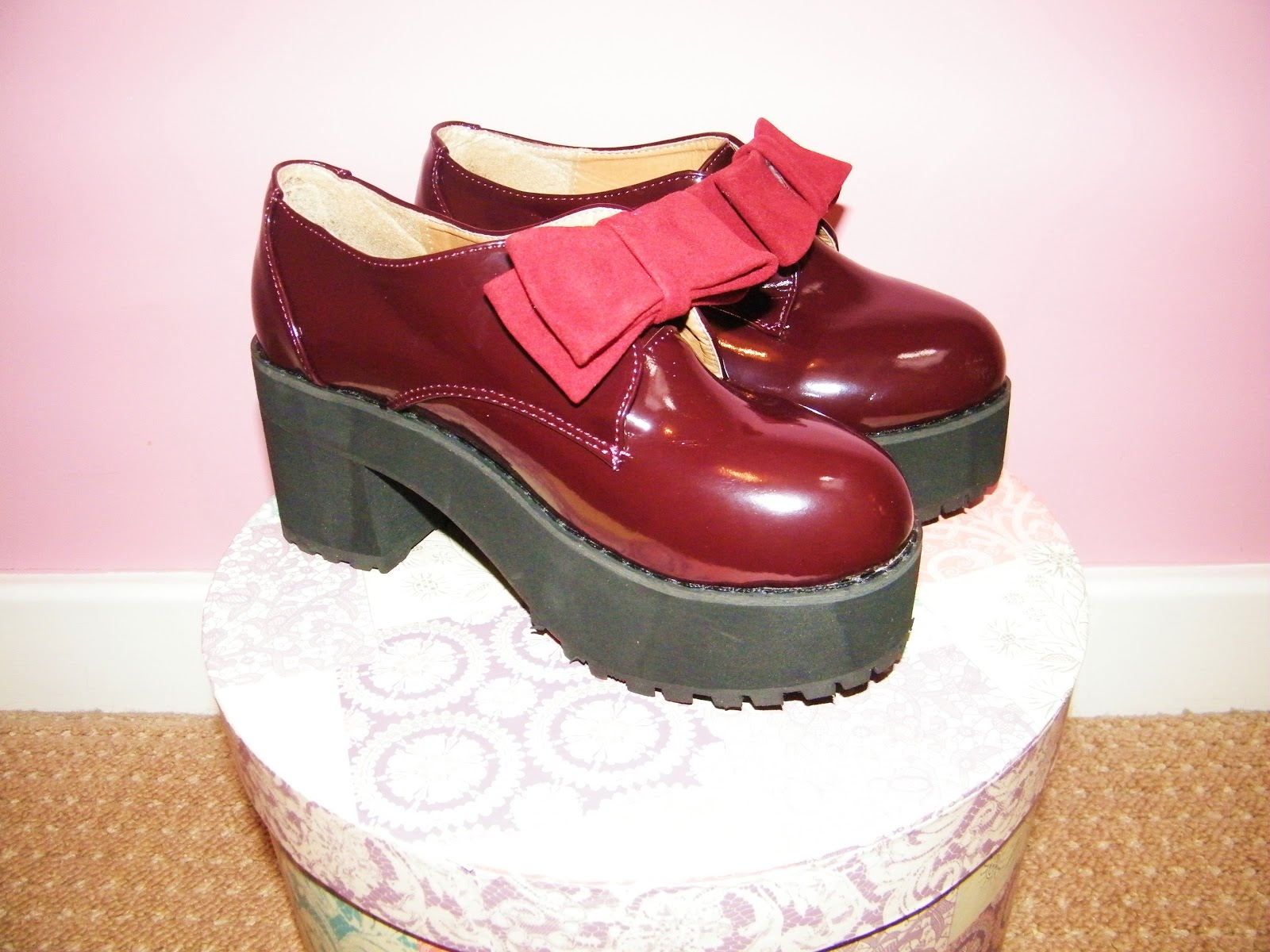 eBay Chunky Burgundy Shoes