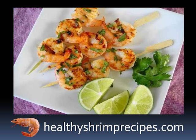 Healthy Shrimp on skewers