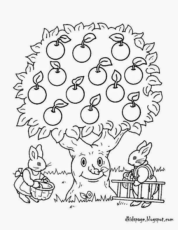 Apple Tree coloring page | Free Printable Coloring Pages | 790x610