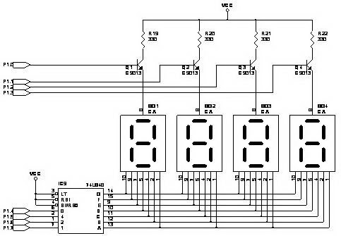 Free Circuit Diagrams: 7Segment Display 74LS247