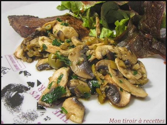 mon tiroir recettes blog de cuisine po l e de champignons aux olives. Black Bedroom Furniture Sets. Home Design Ideas