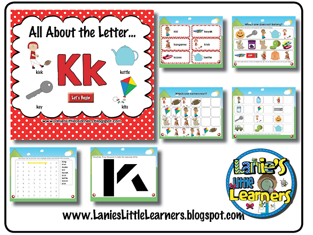 All About the Letter Kk {Letter of the Week SMARTboard Activities}