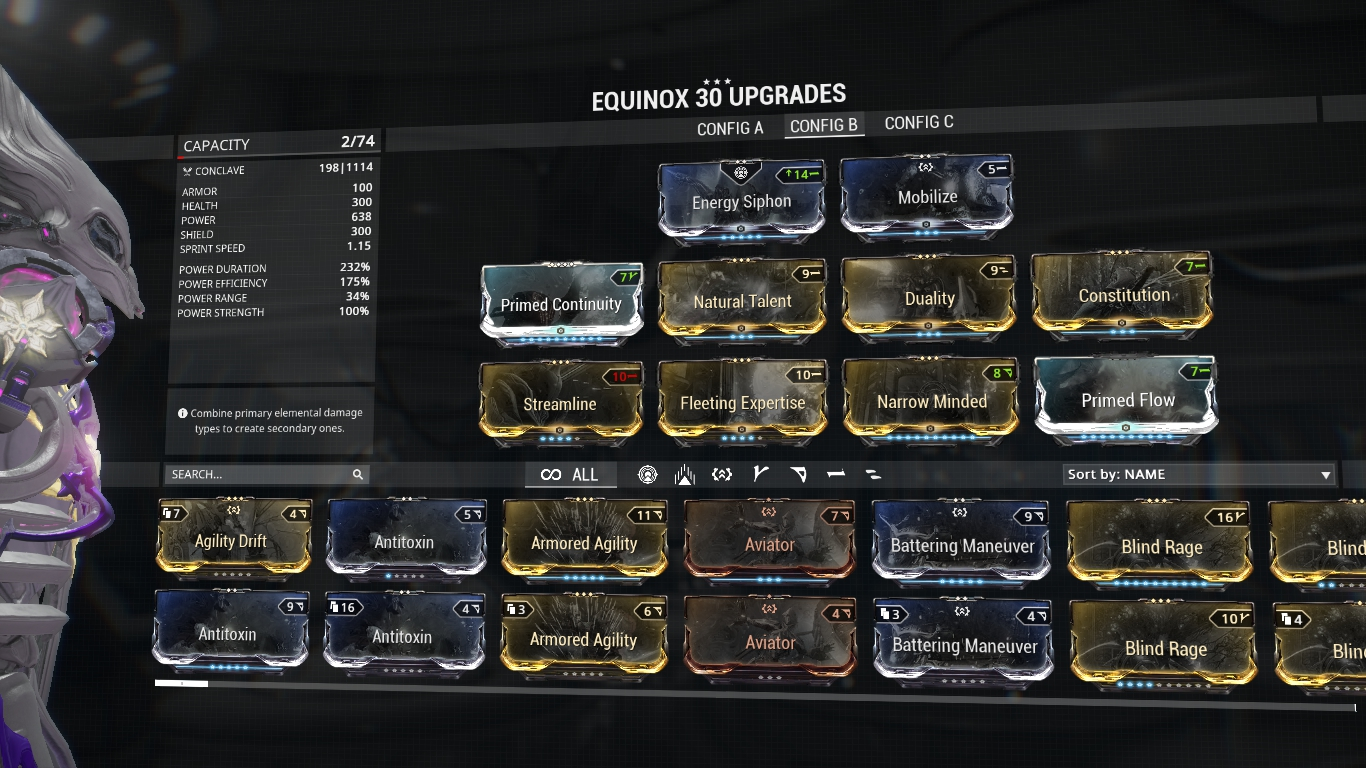 Warframe Chronicles Builds Equinox Augments And