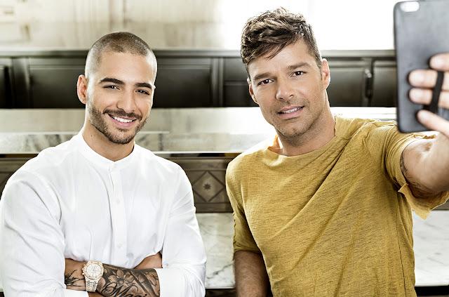"""CALOR! Ricky Martin liberou video clipe de seu mais novo single """"Vente Pa' Ca"""", com participação de Maluma!"""