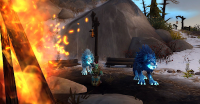 Hati and Skoll at the  WoW Hunters Trueshot Lodge
