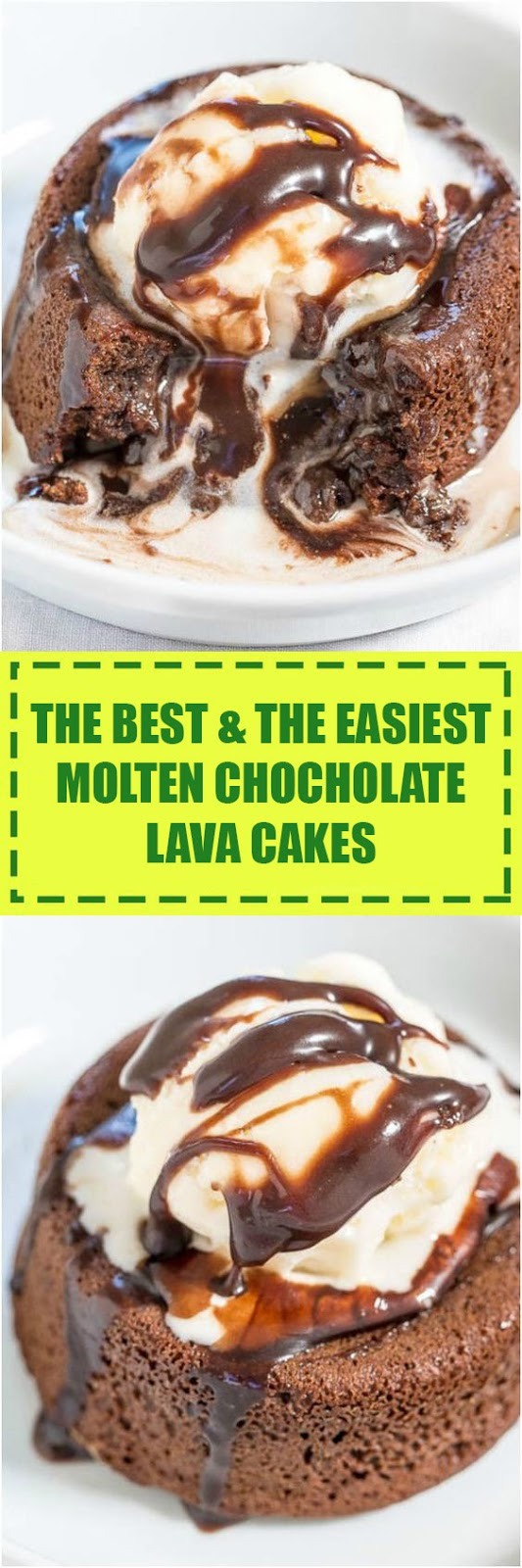 The Best & The Easiest Molten Chocolate Lava Cakes