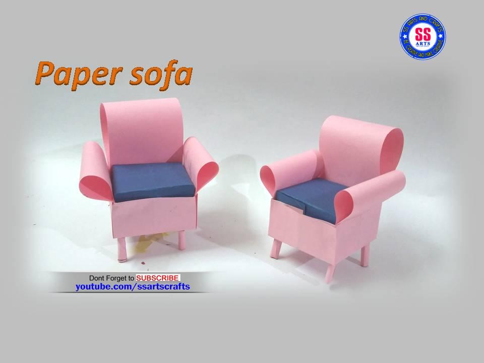 colour paper sofa   SSARTSCRAFTS