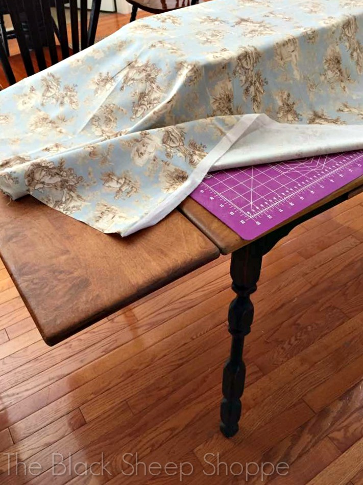 Table used for ironing fabric.