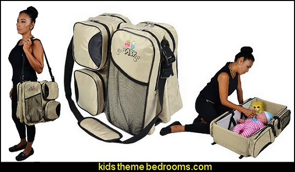 3 in 1 Baby Bag - Diaper Bag - Travel Bassinet - Portable Baby Change Station