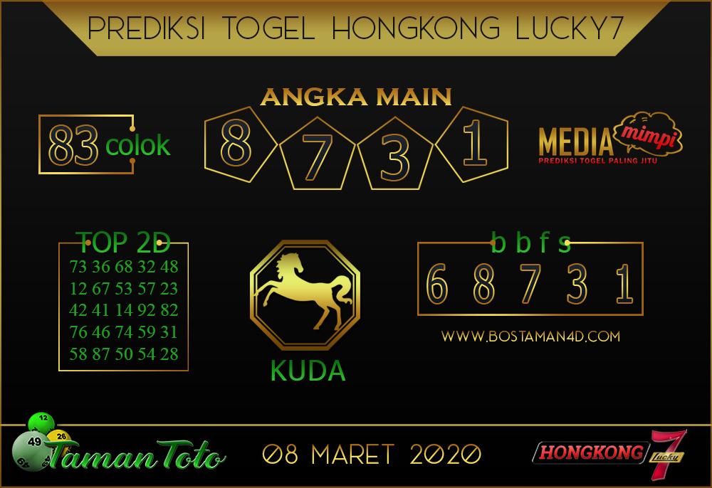 Prediksi Togel HONGKONG LUCKY 7 TAMAN TOTO 08 MARET 2020