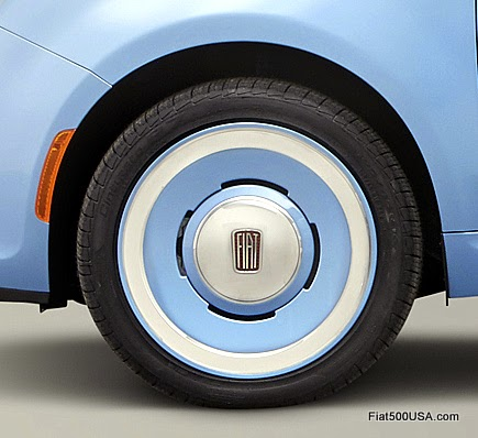 "Fiat 500 ""1957 Edition"" wheels"
