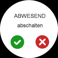 Mockup: Android Wear für ComfoControl - Abwesenheit abschalten