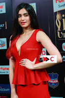 Adah Sharma in Red Deep Neck Spicy Gown ~  Exclusive 44.jpg