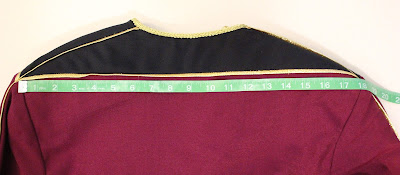 TNG season 1 admiral jacket - yoke