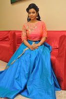 Nithya Shetty in Orange Choli at Kalamandir Foundation 7th anniversary Celebrations ~  Actress Galleries 091.JPG