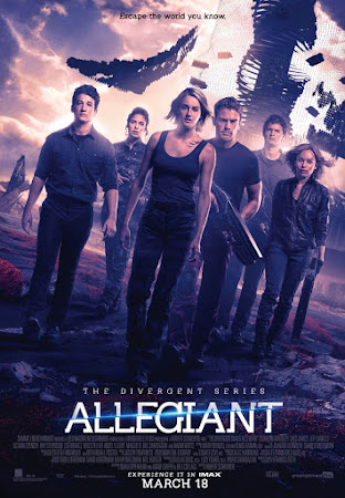 Poster Of Allegiant 2016 In Hindi Bluray 720P Free Download