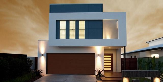 plano de casa de dos pisos con estilo minimalista planos