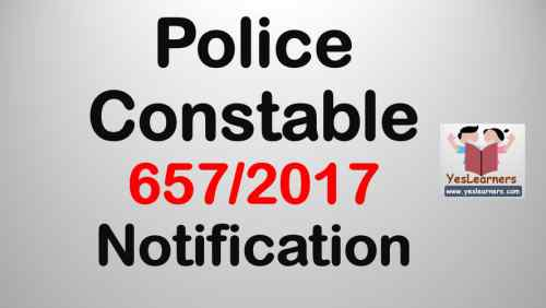 Police Constable Notification - 657/2017