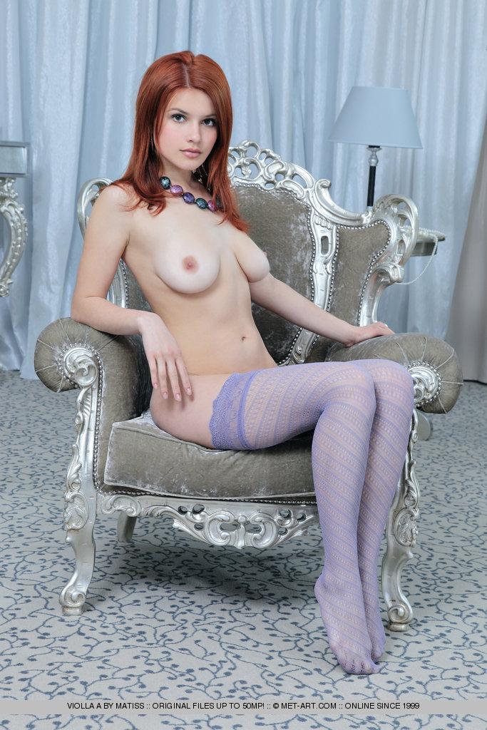 Redhead Stockings Nudezarina Azarina A FuckaMouth 1