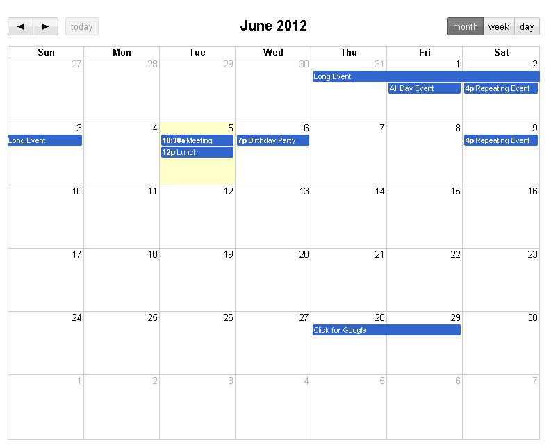 Paul's Programming Notes: Best Jquery Calendar Plugin